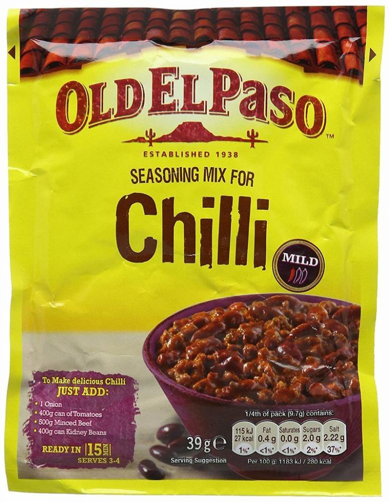 Old El Paso Chili Seasoning Mix 39g