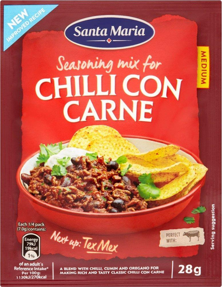 CLEARANCE  Santa Maria Chilli Con Carne Seasoning Mix 28g