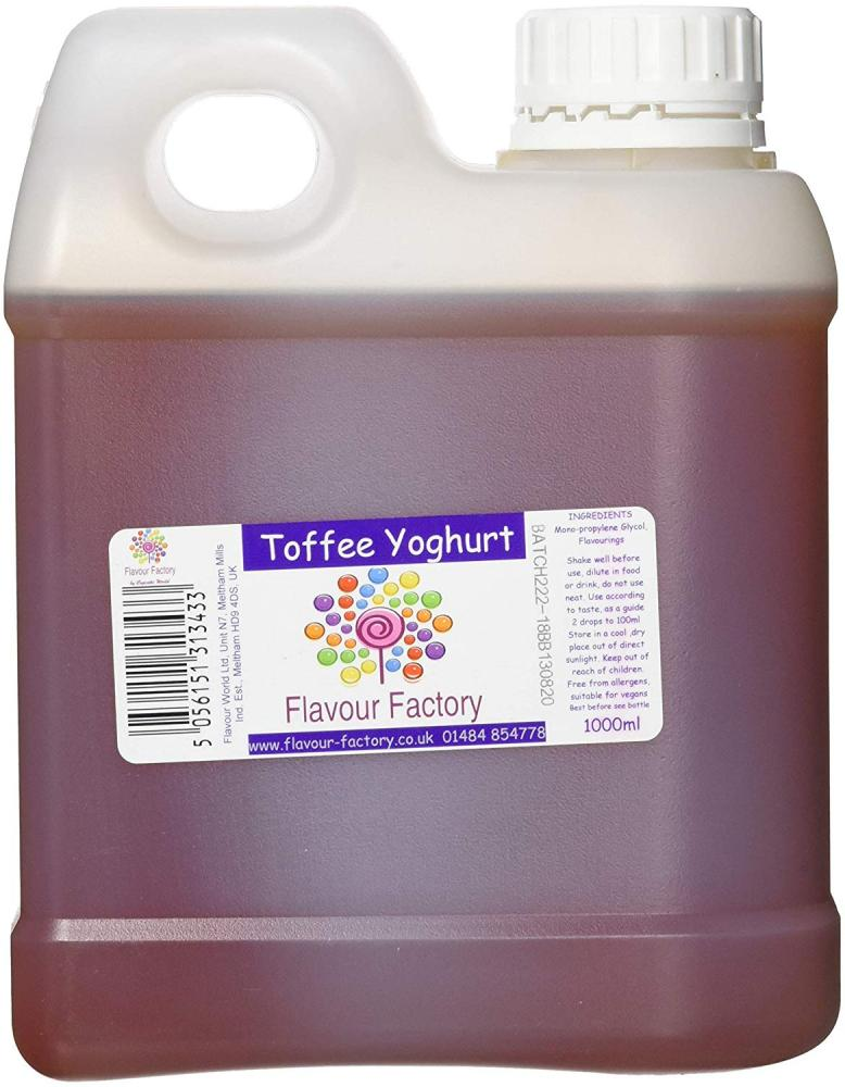 Flavour Factory Intense Food Flavouring Toffee Yoghurt 1000 ml