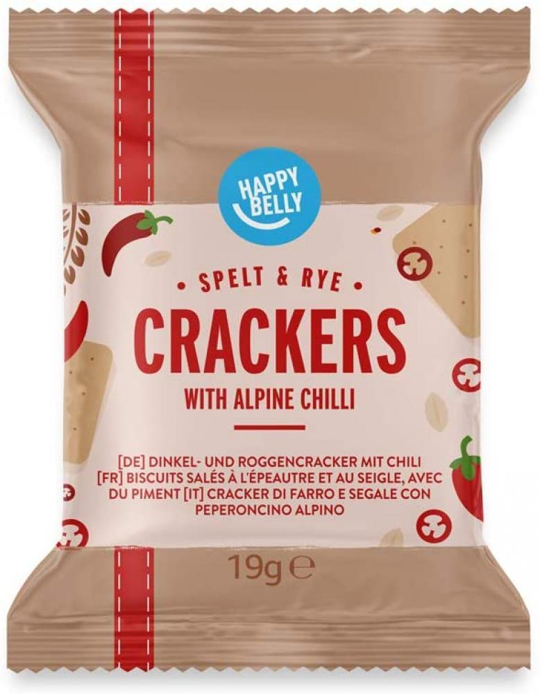 SALE  Happy Belly Spelt Cracker Alpine Chili 7x19g