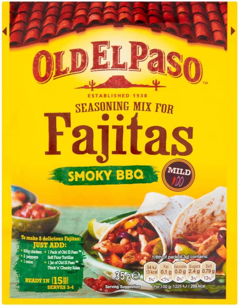 Old El Paso Mexican Smoky Fajita Seasoning Mix 35g