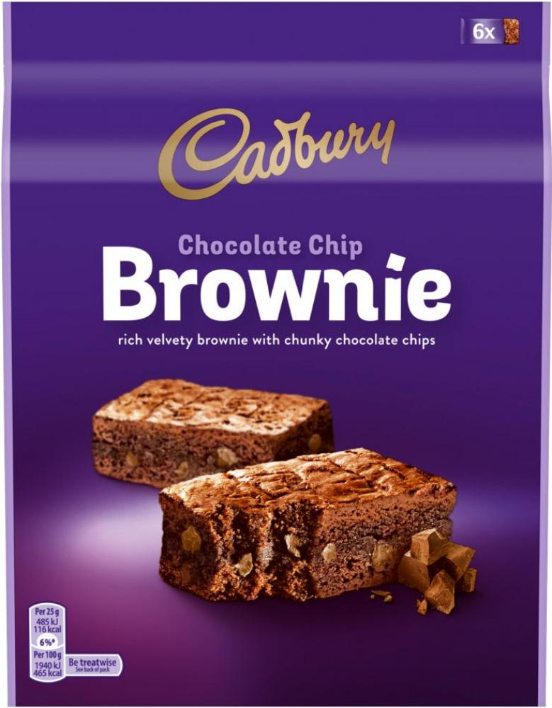 Cadbury Chocolate Chip Brownie 6 x 25g