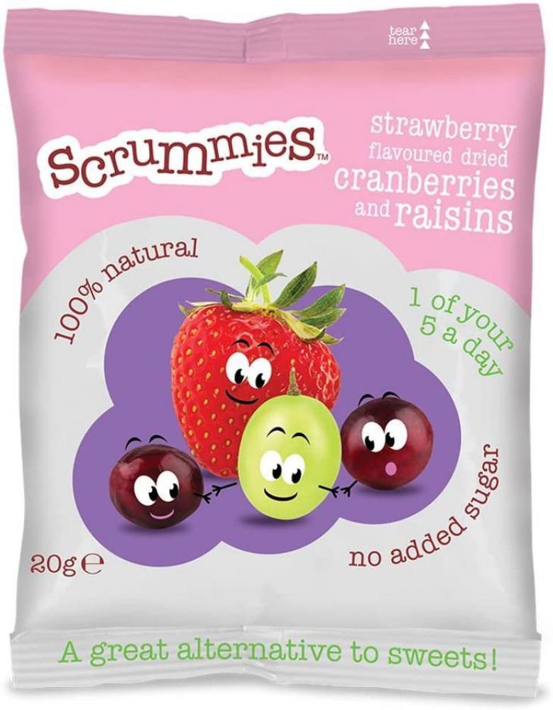 Scrummies Strawberry Flavour Cranberries and Raisins 20 g