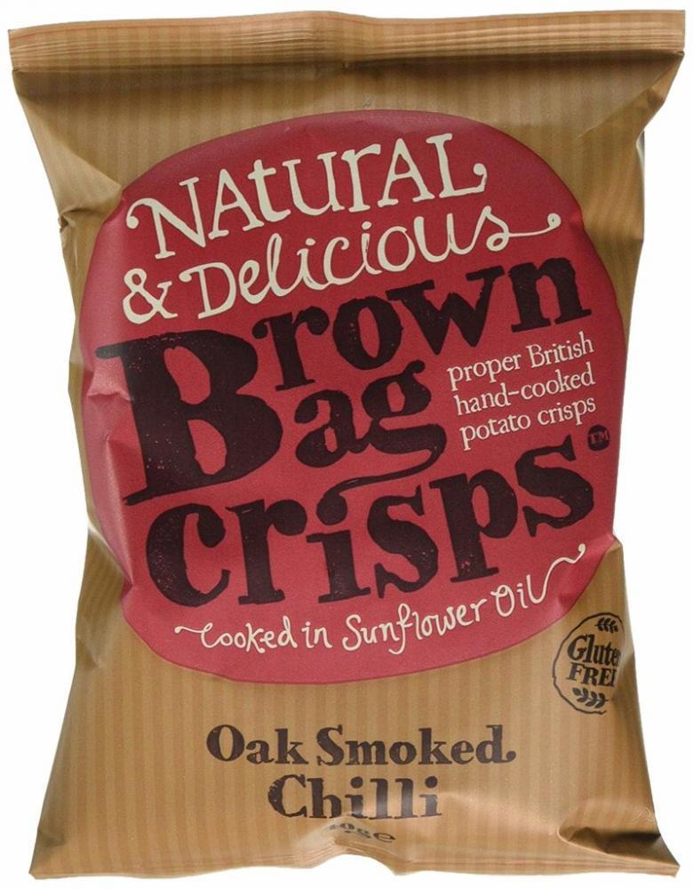 Brown Bag Crisps Oak Smoked Chilli Crisps 40g