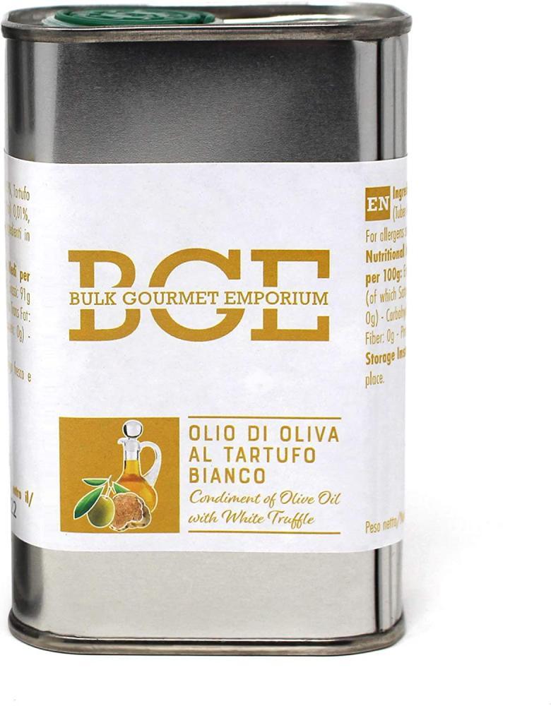 Bulk Gourmet Emporium Olive Oil with White Truffle in Metal Pouring Tin 250ml