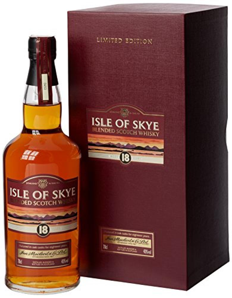 SUMMER SALE  Isle of Skye 18 Year Old Blended Scotch Whisky 70 cl