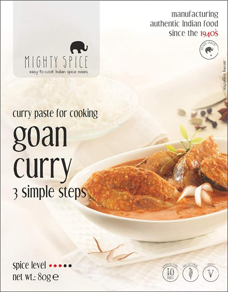 Mighty Spice Curry Paste for Indian Goan Curry Sauce 80g