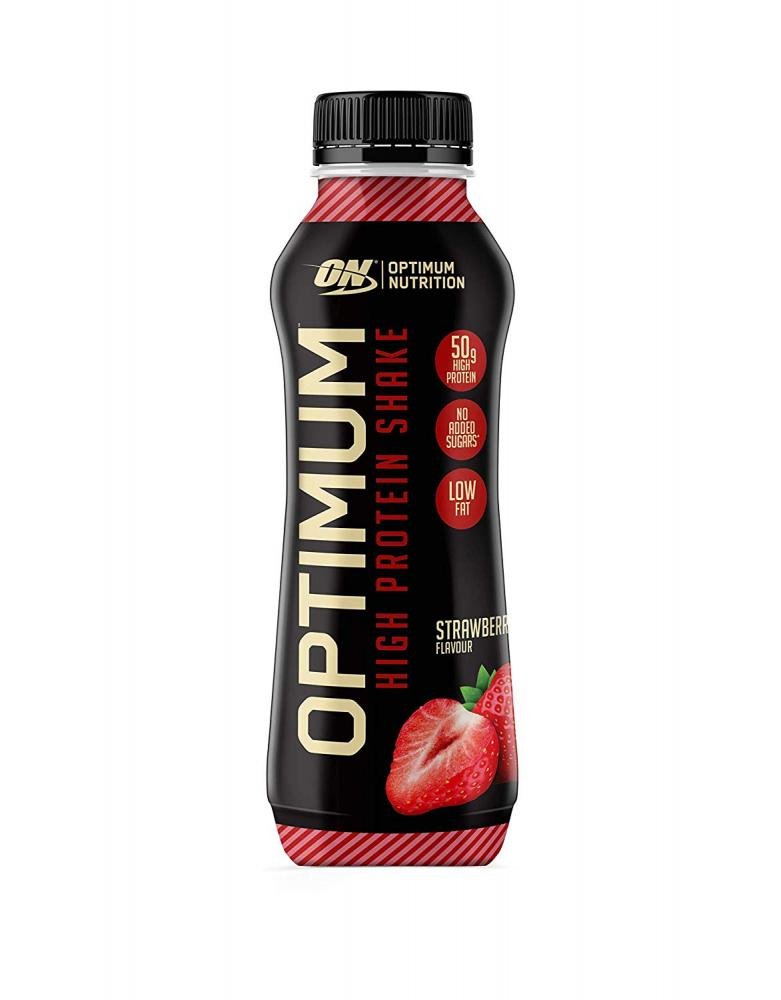 Optimum Nutrition Strawberry Shake Ready To Drink High Protein 500ml