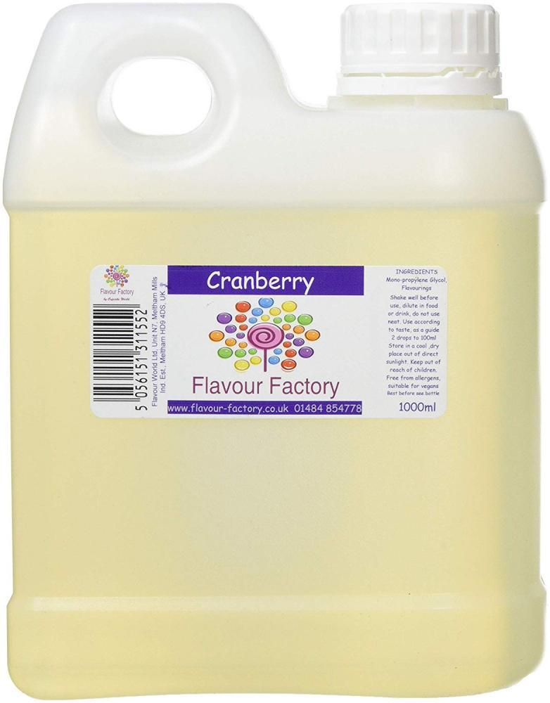 FLASH DEAL  Flavour Factory Cranberry 1L