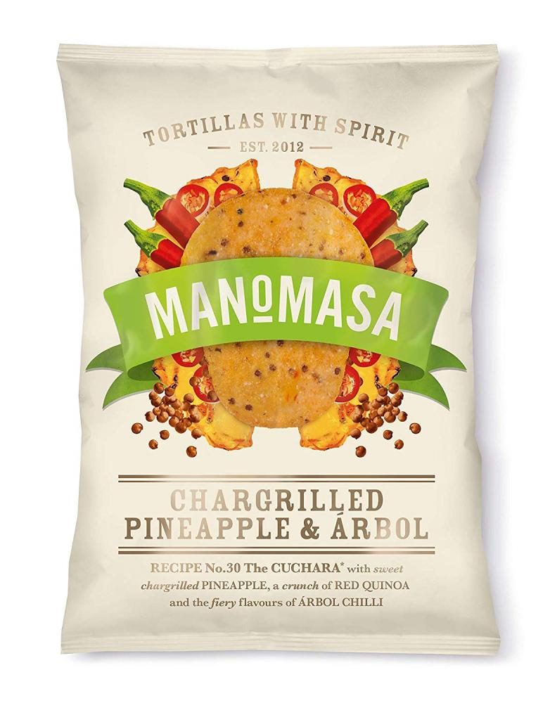 Manomasa Chargrilled Pineapple and Arbol Tortilla Chips 160g