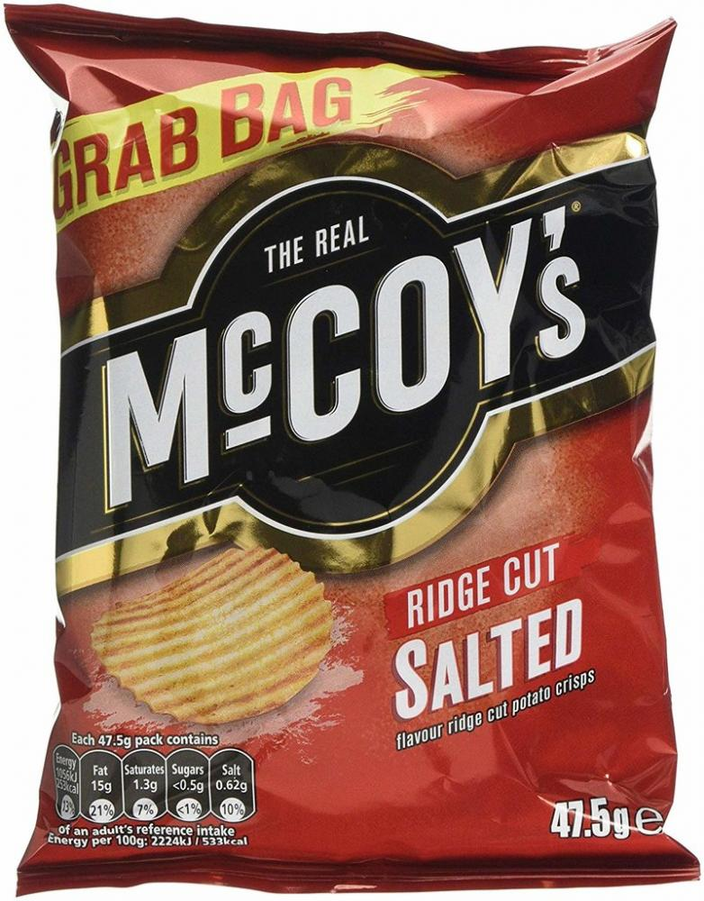 Mccoys Ridge Cut Salted 47.5g