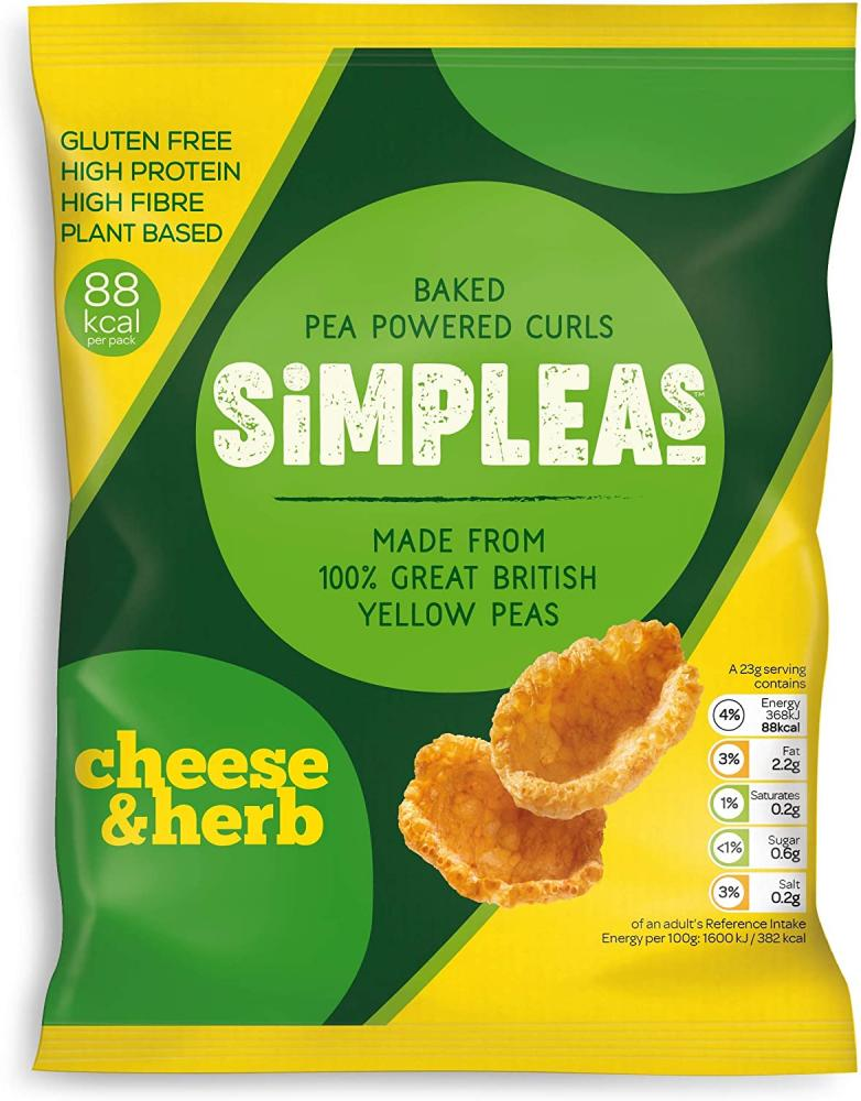 Simpleas Pea Curl - Cheese and Herb 23 g