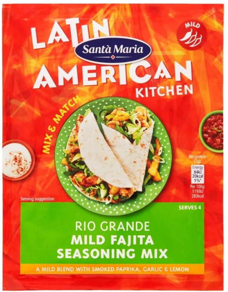Santa Maria Rio Grande Mild Fajita Seasoning Mix 28g