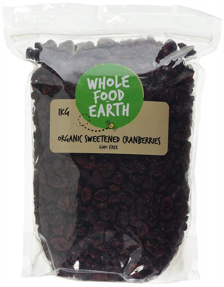 Whole Food Earth Organic Sweetened Cranberries 1kg