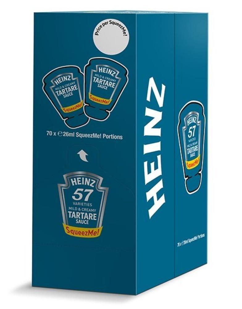 CASE PRICE  Heinz Squeeze Me Tartare Sauce Sachets 26ml x 70
