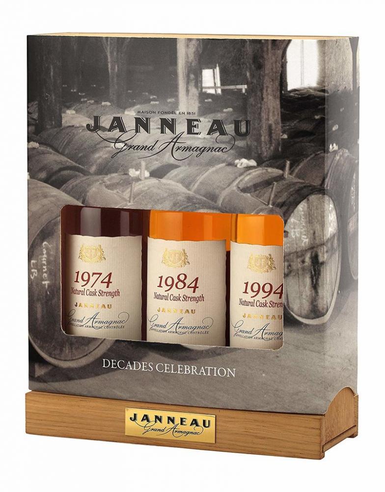 Janneau Trilogy Vintage Armagnac Set Brandy 3x20cl