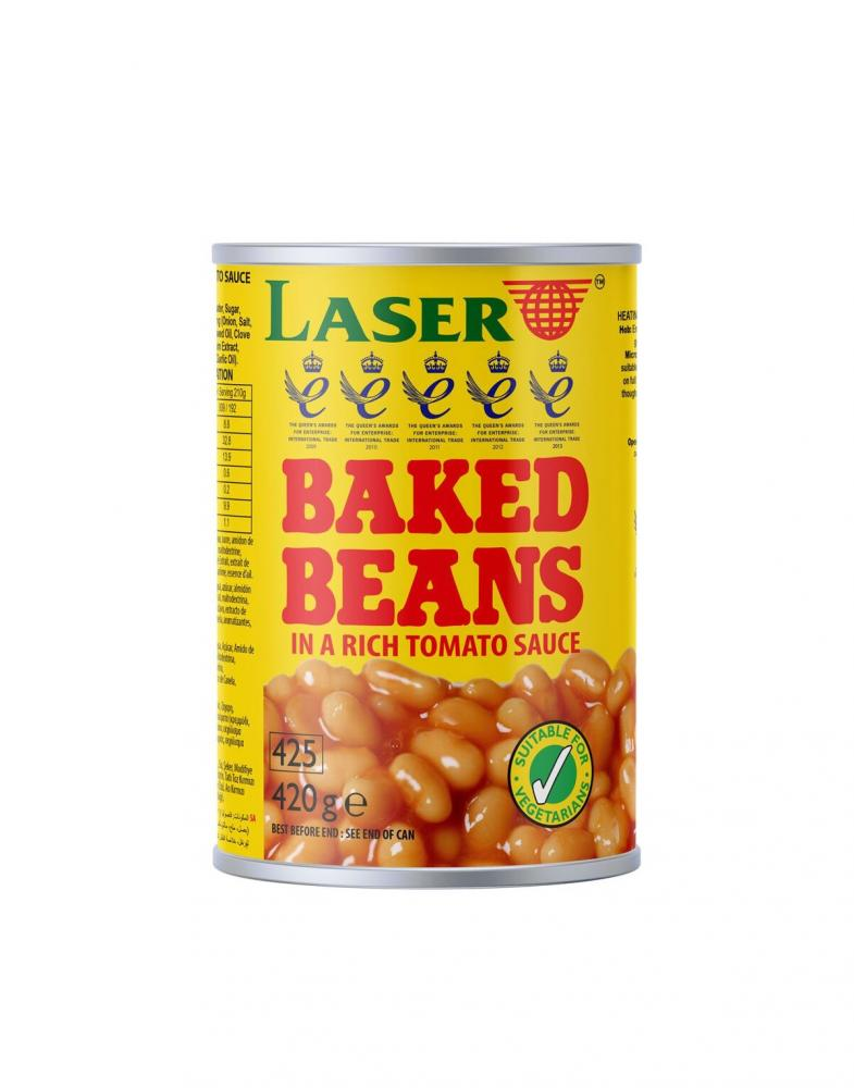 Laser Baked Beans In Rich Tomato Sauce 420g