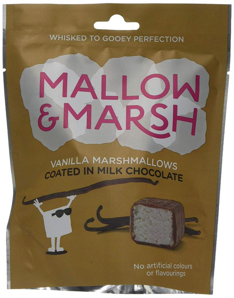 Mallow and Marsh Vanilla and Milk Chocolate Marshmallow Pouch 100 g