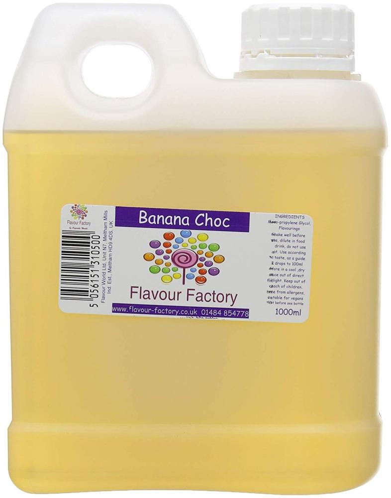 Flavour Factory Extra Strong Food Flavouring Banana Choc 1000 ml