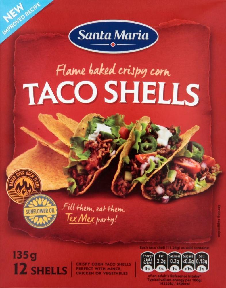 Santa Maria Taco Shells 135g
