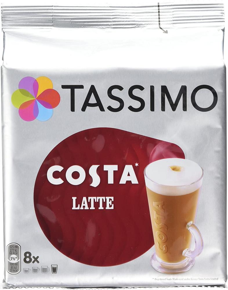 Tassimo Costa Latte Coffee Pods 16 Pods