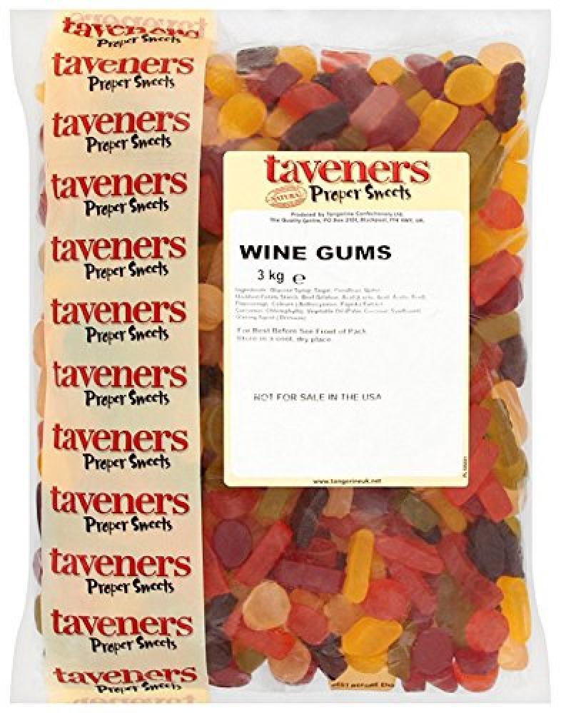 Taveners Wine Gums 3Kg