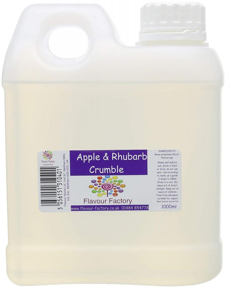 Flavour Factory Apple and Rhubarb Crumble 1L