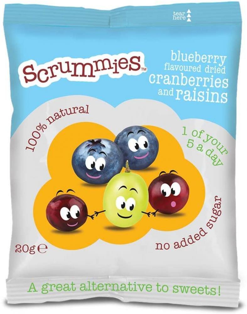 Scrummies Blueberry Flavour Cranberries and Raisins 20g