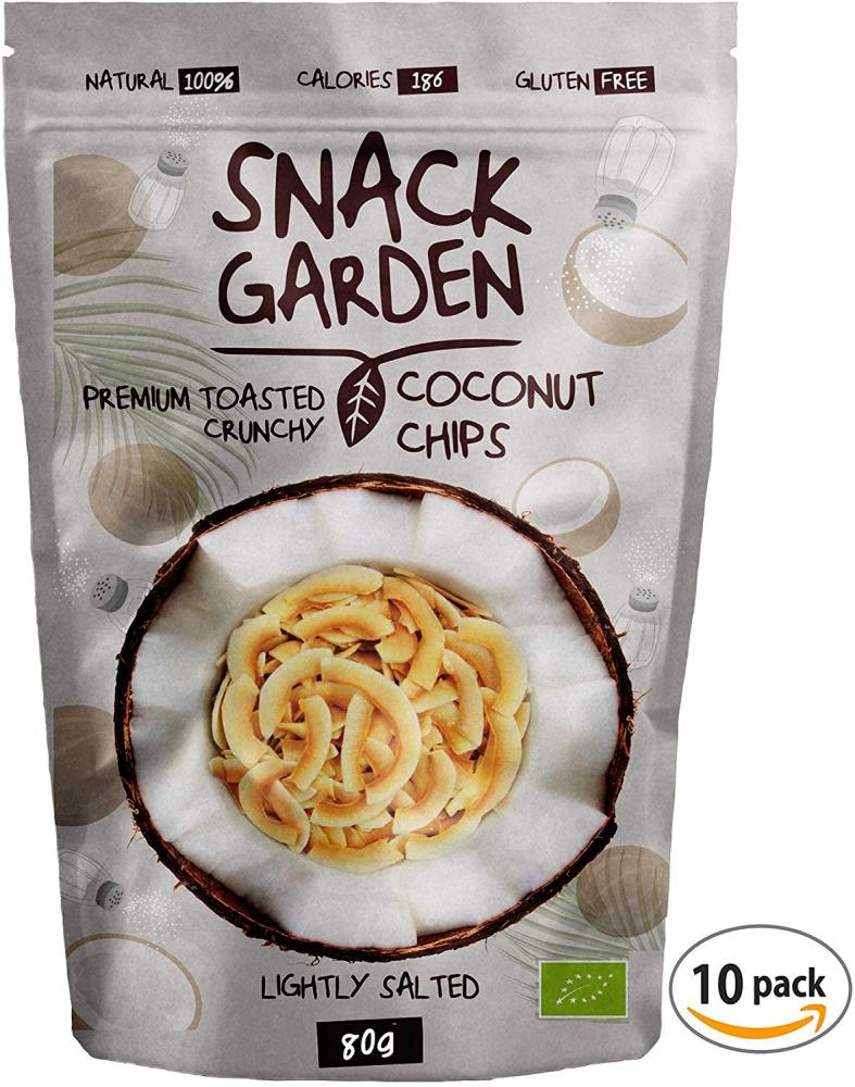 Snack Garden Toasted Organic Coconut Chips with Sea Salt 80g