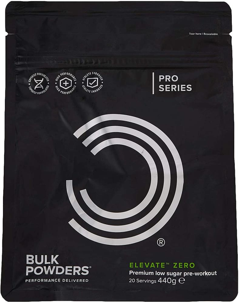 Bulk Powders Elevate Zero Pre Workout Pineapple and Grapefruit 440 g