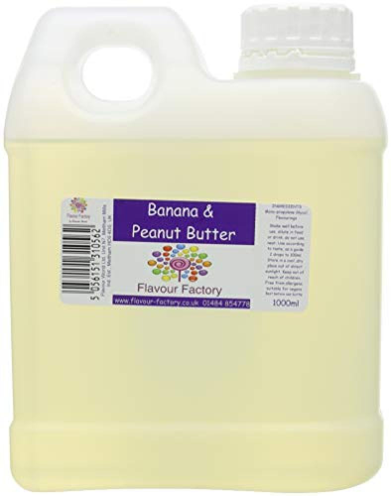 FLASH DEAL  Flavour Factory Banana and Peanut Butter 1000ml