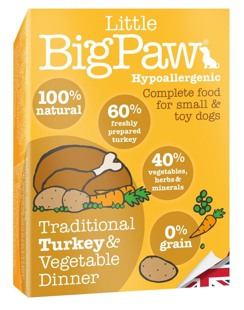 Little Big Paw Traditional Turkey and Vegetable Dinner 150g
