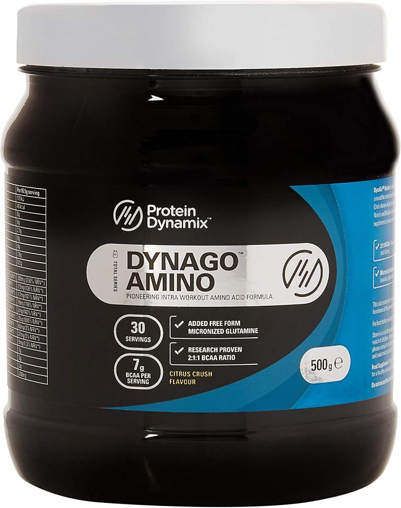 Protein Dynamix Dynago Amino BCAA Intra Workout Citrus Crush Flavour 500g