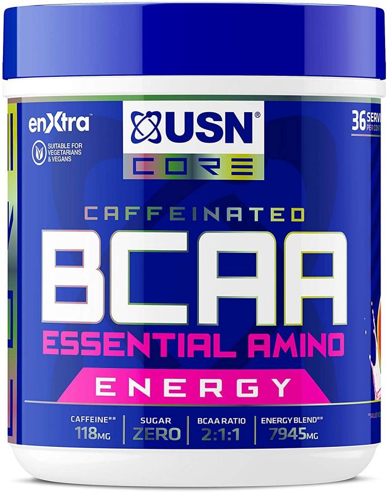SALE  USN Bcaa Power Punch Pls Energy Amino Acid Energy Blend With Caffeine and Taurine Watermelon 400 g