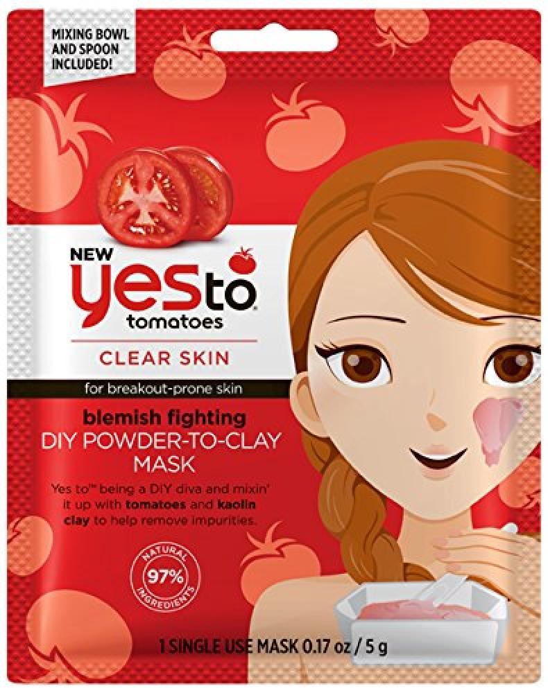 Yes To Tomatoes Clear Skin DIY Powder to Clay Mask 5g
