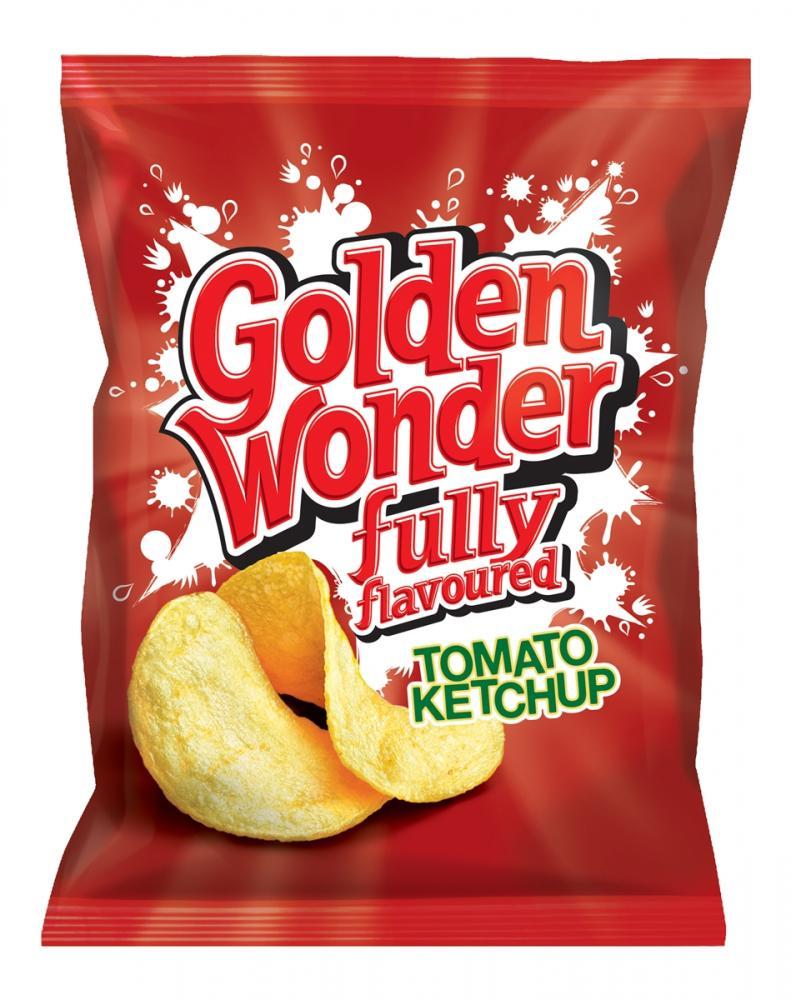 Golden Wonder Tomato Ketchup Crisps 32.5g