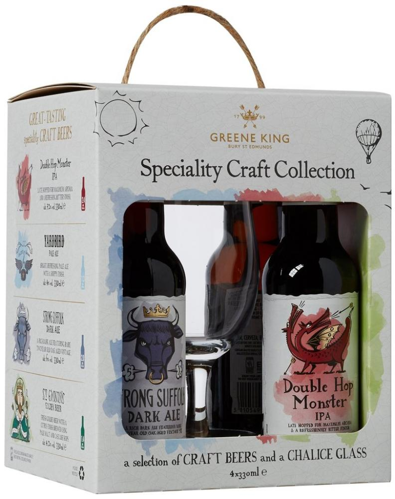 Greene King Speciality Craft Collection Craft Beers And Chalice Glass 330 ml