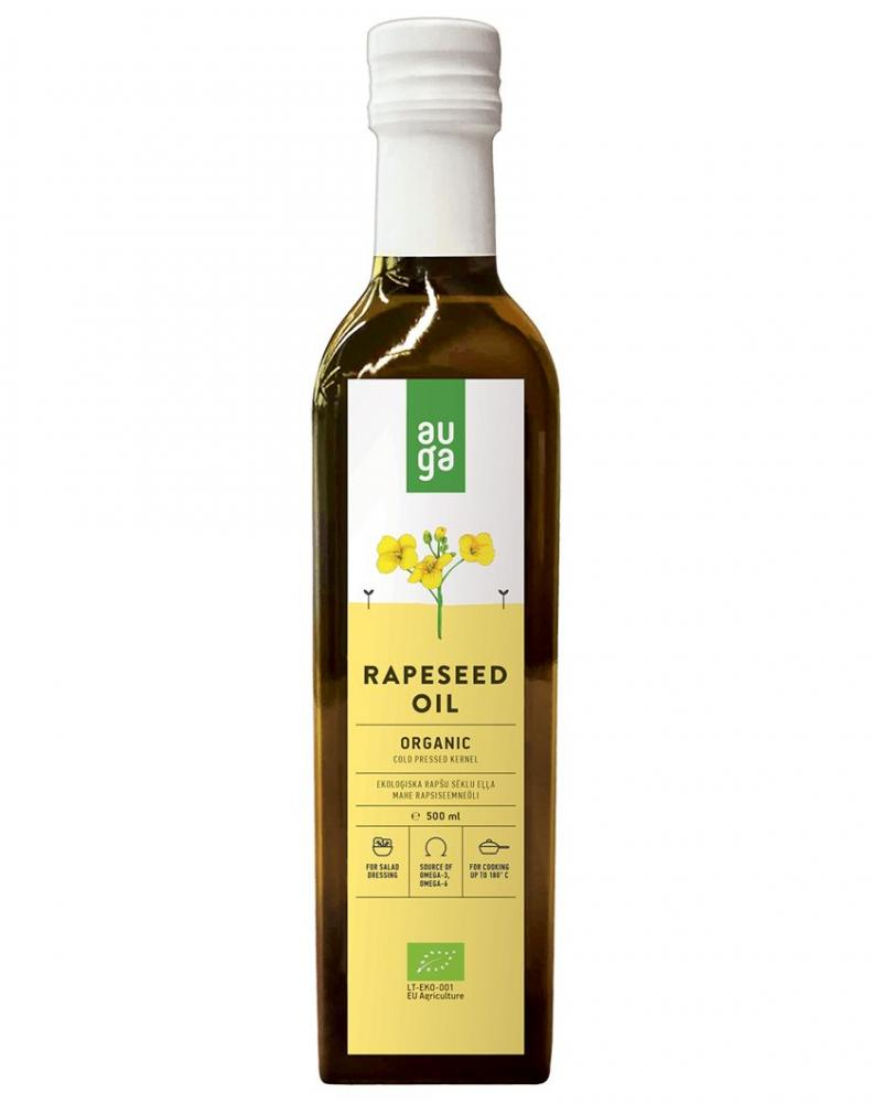 Auga Organic Cold Pressed Rapeseed Oil 500ml