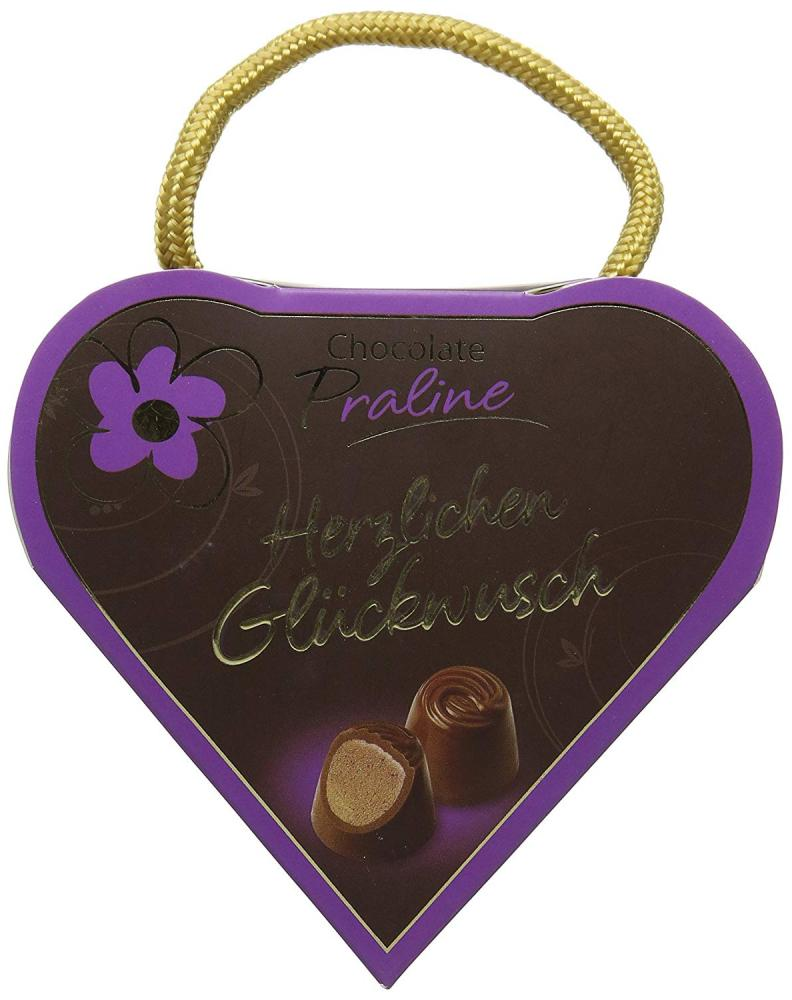 Gunthart Emotion Heart Assorted with Sayings and Filled with Pralines Lucky Dip 45g