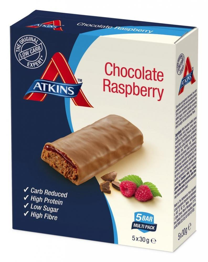 Atkins Chocolate Raspberry Bar 30g x 5