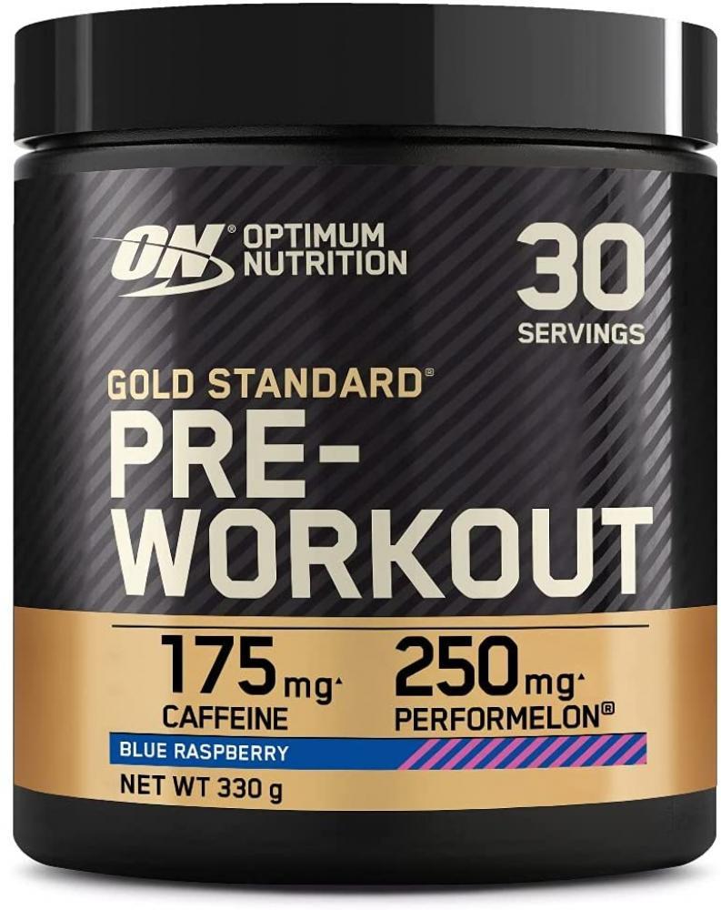 Optimum Nutrition Gold Standard Pre Workout Powder Blue Raspberry 330 g
