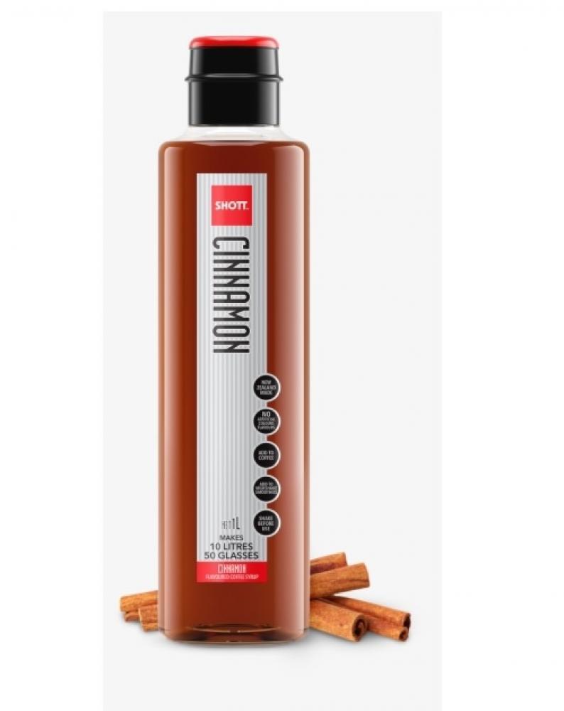 Shott Cinnamon Flavoured Coffee Syrup 1 Litre