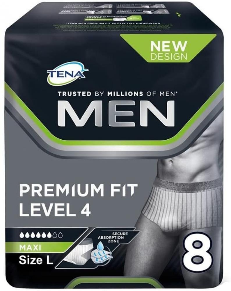 Tena For Men Premium Fit Level 4 Large Pack of 8