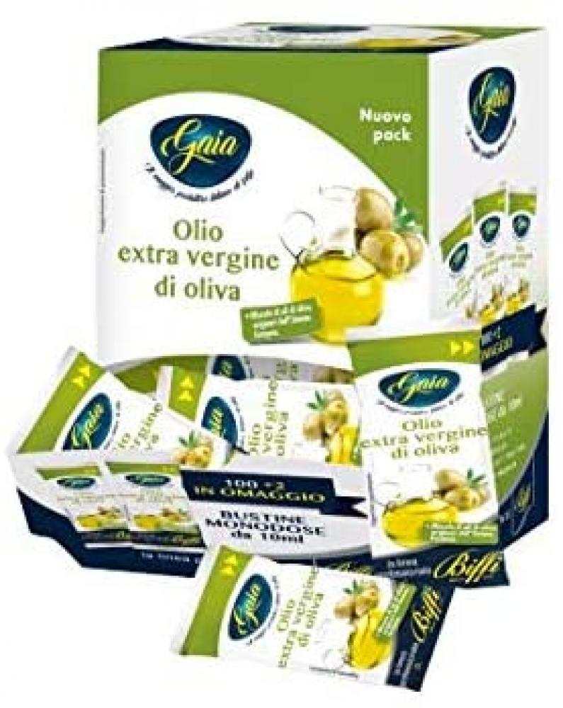 Gaia Extra Virgin Oil in Single Dose Bags - 102 Bags of 10 ml