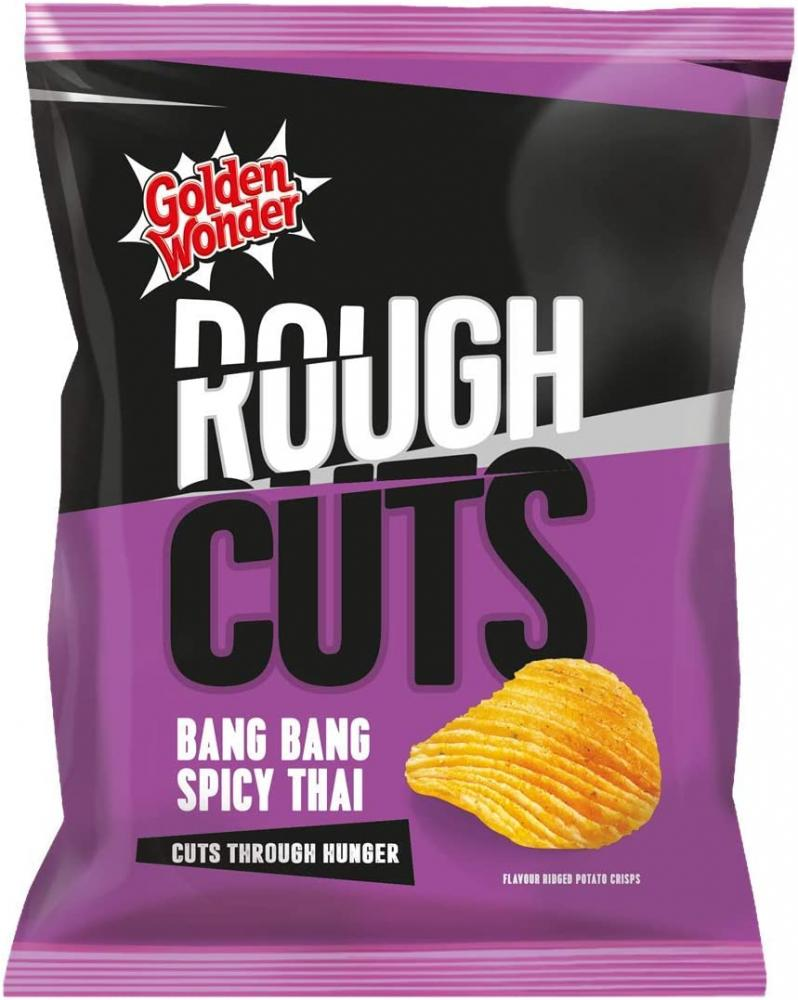 Golden Wonder Rough Cuts Bang Bang Spicy Thai Crisps 47.5g