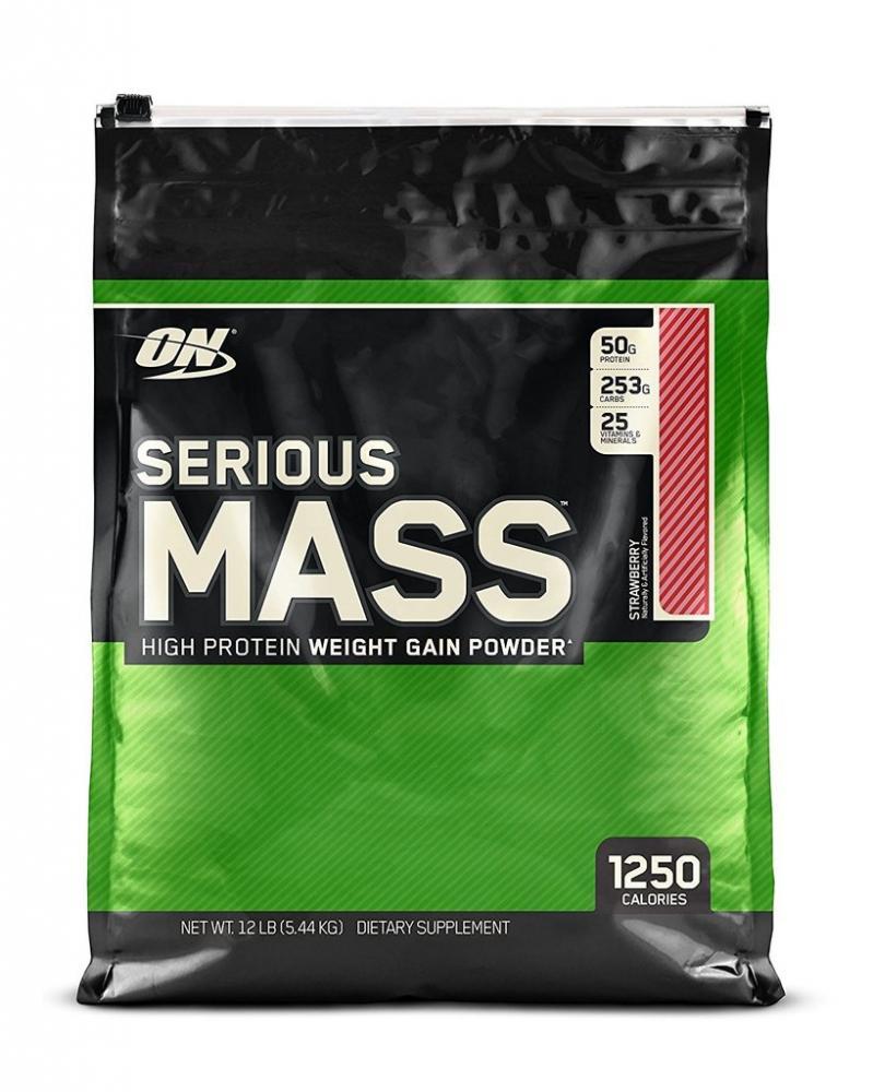 Optimum Nutrition Serious Mass Weight Gain Strawberry 5.45 kg