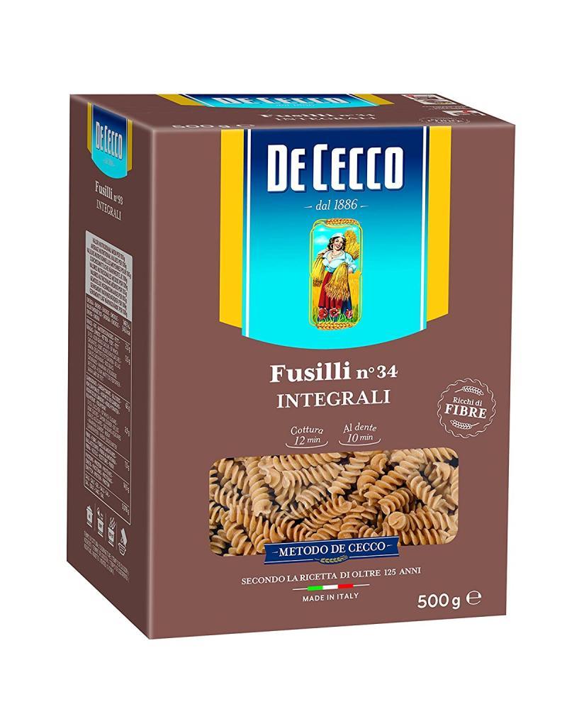 SALE  De Cecco Whole Wheat Fusilli 500g