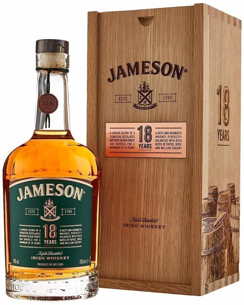 Jameson 18 Year Old Whisky Wooden Box Edition 70cl