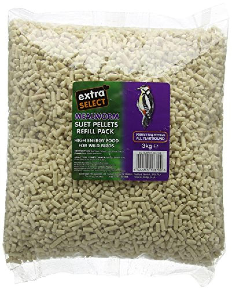 Extra Select High Energy Suet Pellets Mealworm Refill 3 kg