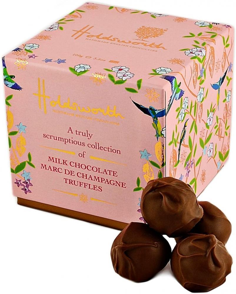 Holdsworth Chocolates Classic Marc de Champagne Truffles In Milk Chocolate 100g